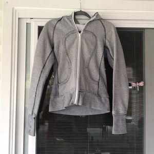 Lululemon striped scuba jacket size 6